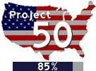 Project 50: 73% complete